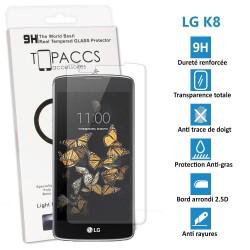 LG K8 - Véritable vitre de protection écran en Verre trempé ultra résistante - Protection écran