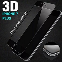 Apple Iphone 7 Plus - Verre trempé bord arrondi - Couverture complète - 3D Full Cover