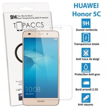 Huawei Honor 5C - Véritable vitre de protection écran en Verre trempé ultra résistante - Protection écran
