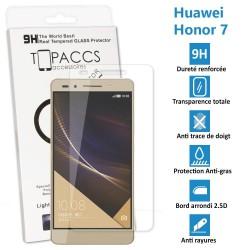 HUAWEI HONOR 7 - Véritable vitre de protection écran en Verre trempé ultra résistante