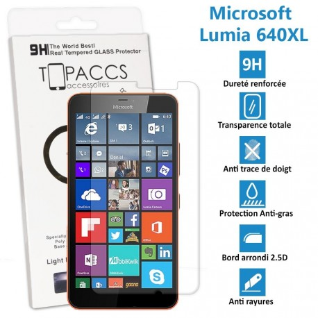 Microsoft Lumia 640 XL -  vitre de protection écran en Verre trempé  - Protection écran
