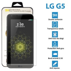 TOPACCS - LG G5 - Véritable vitre en verre trempé ultra résistante - Protection écran