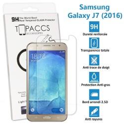 TOPACCS - Samsung Galaxy J7 2016 - Véritable vitre de protection écran en Verre trempé ultra résistante - Protection écran