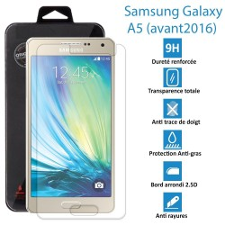 TOPACCS - Samsung Galaxy A5 (avant 2016) - Véritable vitre en verre trempé ultra résistante - Protection écran