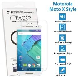 Motorola Moto X Style - Véritable vitre de protection écran en Verre trempé ultra résistante - Protection écran
