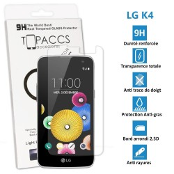 LG K4 - Véritable vitre de protection écran en Verre trempé ultra résistante - Protection écran