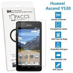 Huawei Ascend Y530 - Véritable vitre de protection écran en Verre trempé ultra résistante - Protection écran