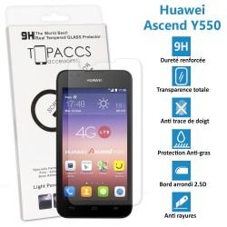 Huawei Ascend Y550 - Véritable vitre de protection écran en Verre trempé ultra résistante - Protection écran