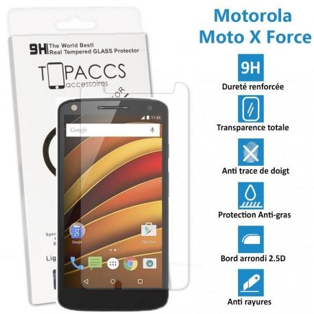 Motorola Moto X Force - Véritable vitre de protection écran en Verre trempé ultra résistante - Protection écran