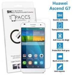 Huawei Ascend G7 - Véritable vitre de protection écran en Verre trempé ultra résistante - Protection écran