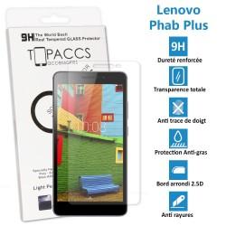 LENOVO PHAB PLUS - Véritable vitre de protection écran en Verre trempé ultra résistante - Protection écran