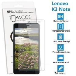 LENOVO K3 NOTE - Véritable vitre de protection écran en Verre trempé ultra résistante - Protection écran