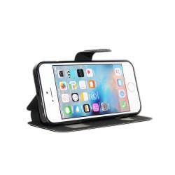 Apple iPhone 5, 5s et SE - étuit à rabat avec double fenetre - Cuir PU - Très solide
