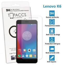 LENOVO K6 - Véritable vitre de protection écran en Verre trempé ultra résistante - Protection écran