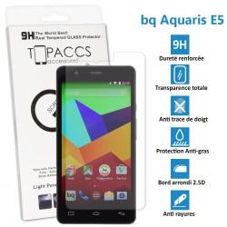 BQ Aquaris E5 - Véritable vitre de protection écran en Verre trempé ultra résistante - Protection écran
