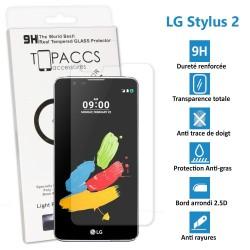 LG STYLUS 2 - Véritable vitre de protection écran en Verre trempé ultra résistante - Protection écran