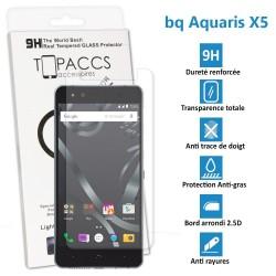 BQ Aquaris X5 - Véritable vitre de protection écran en Verre trempé ultra résistante - Protection écran