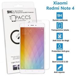 Xiaomi Redmi Note 4 - Véritable vitre de protection écran en Verre trempé ultra résistante - Protection écran