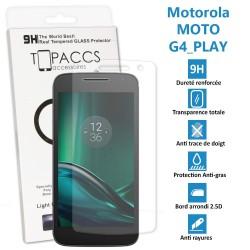Motorola Moto G4 Play - Véritable vitre de protection écran en Verre trempé ultra résistante - Protection écran