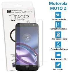 Motorola Moto Z - Véritable vitre de protection écran en Verre trempé ultra résistante - Protection écran