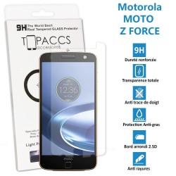 Motorola Moto Z Force - Véritable vitre de protection écran en Verre trempé ultra résistante - Protection écran