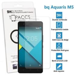 BQ Aquaris M5 - Véritable vitre de protection écran en Verre trempé ultra résistante - Protection écran
