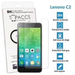 LENOVO C2 - Véritable vitre de protection écran en Verre trempé ultra résistante - Protection écran