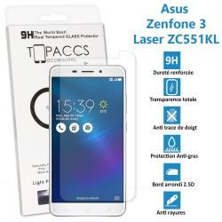 Asus Zenfone 3 Laser : ZC551KL - Véritable vitre de protection écran en Verre trempé ultra résistante - Protection écran