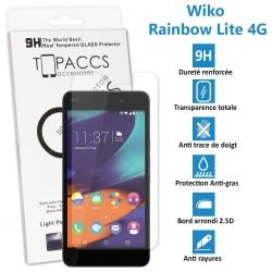 Wiko Rainbow Lite 4G - Véritable vitre de protection écran en Verre trempé ultra résistante - Protection écran