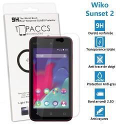 Wiko Sunset 2 - Véritable vitre de protection écran en Verre trempé ultra résistante - Protection écran