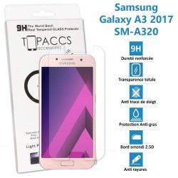 Samsung Galaxy A3 2017 - Véritable vitre en verre trempé ultra résistante - SM-A320 - Protection écran