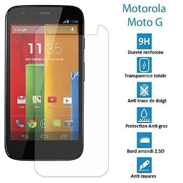 Motorola Moto G2-Véritable vitre en verre trempé ultra résistante