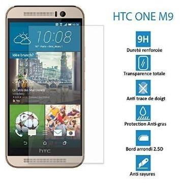 HTC ONE M9 - Véritable vitre en verre trempé ultra résistante