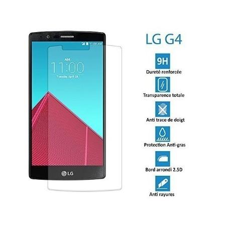 LG G4- Véritable vitre en verre trempé ultra résistante