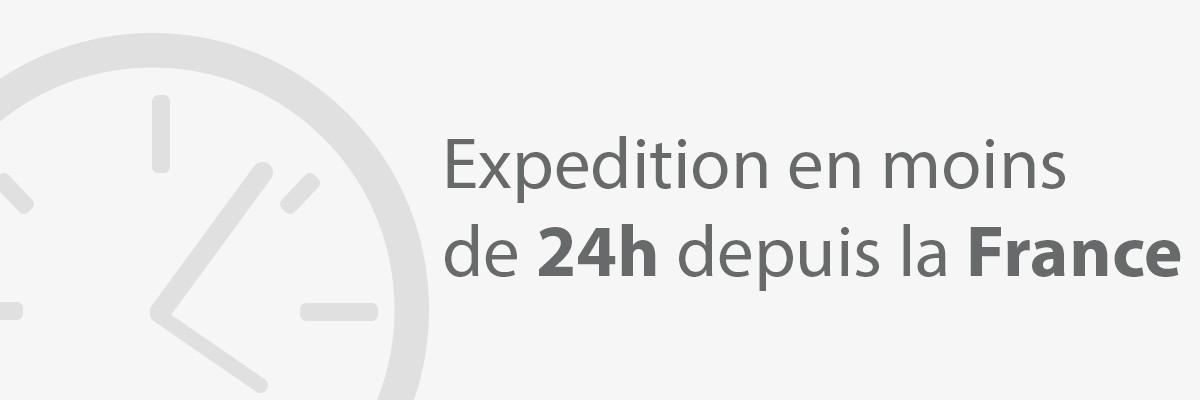 Expédition express en moins de 24h depuis la France